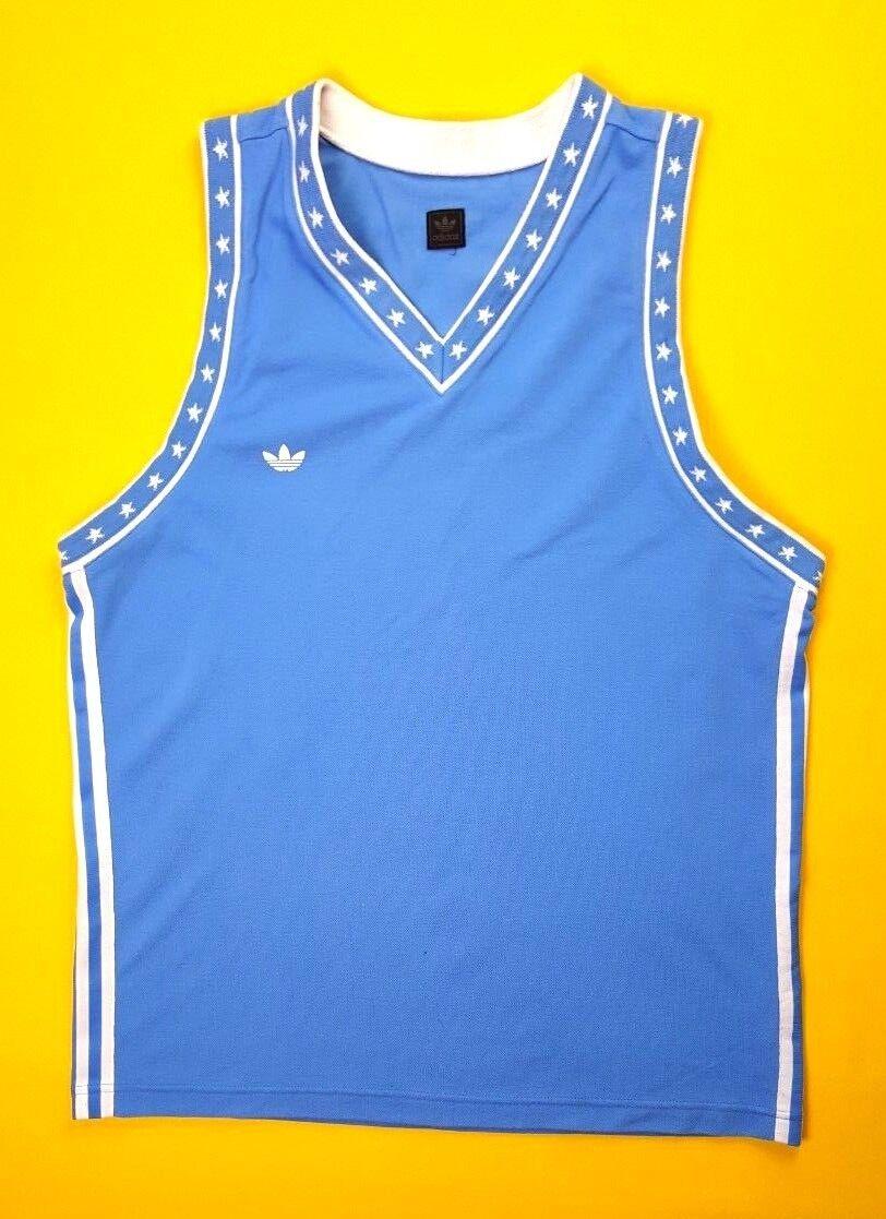 4.9 5 Vintage adidas retro jersey XL sleeveless shirt soccer football ig93