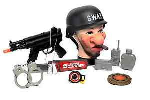 MP5 Gun Shooter Blaster Super Set Multi Accessory  SWAT Bag Army Solider Toy