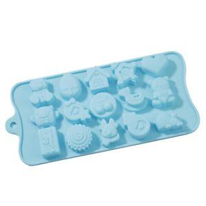 Forma in Silicone springerle casa Renna cuore-per calcestruzzo sapone versa cioccolato massa