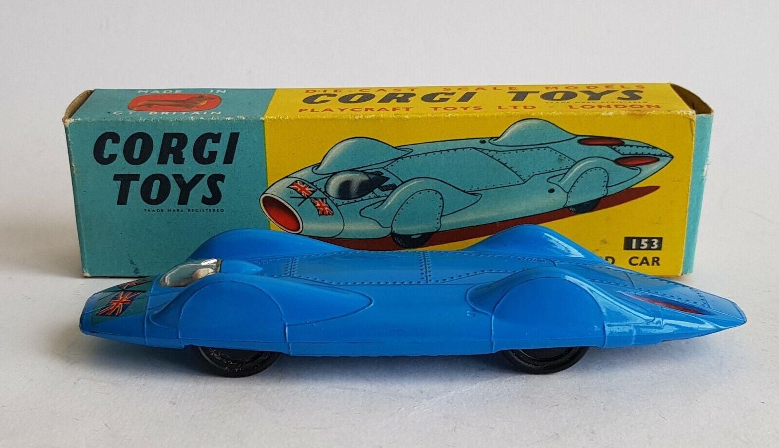 Corgi Toys, 153, Predeus-Campbell 'blueebird' Record Car, - Superb Mint Condition