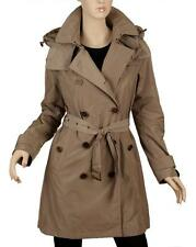 NEW BURBERRY CURRENT SISAL TAFFETA TRENCH COAT WITH DETACHABLE HOOD 42/8