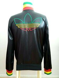 abajo Actriz posterior  Adidas rasta jamaica Chile bright rare retro vintage track jacket s/bob  marley | eBay