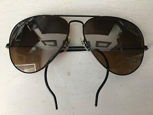 1980s GRAIL RARE PROTOTYPE B&L Ray-Ban Half Ear Wrap Aviator 62[]14 Sunglasses
