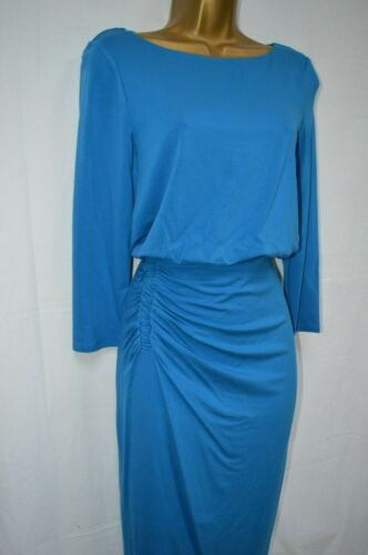 NEW PHASE EIGHT REBECCA RUCHED DRESS KINGFISHER BLUE BODYCON OFFICE PARTY 8-18