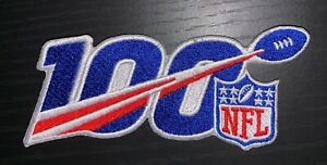 NFL-100TH-ANNIVERSARY-PATCH-2019-2020-SEASON-EMBROIDERED-5-034-X-2-034-SUPER-BOWL