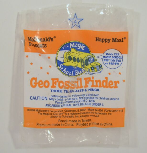 Geo Fossil Finder 1994 McDonalds Happy Meal Toy