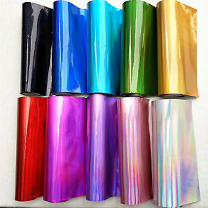 Holographic Mirrored Vinyl Leatherette Fabric Iridescent