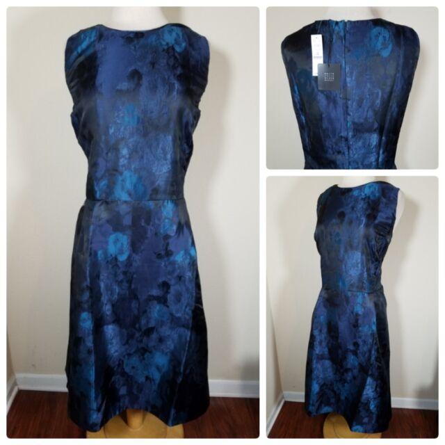 White House Black Market Plus Size Jacquard Fit & Flare Dress 24w
