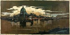 TANO de SIMONE Signed Vintage Mid Century c.1960's Oil Painting ROME REFLECTIONS