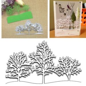 DIY Christmas Snow Tree Metal Cutting Dies Stencil Embossing Craft Paper Cards