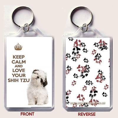 KEEP CALM AND LOVE PUGS Keyring or Fridge Magnet GIFT PRESENT IDEA
