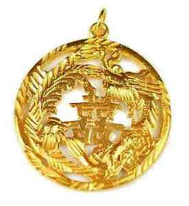 LOOK-Gold-Plated-Chinese-Happiness-Luck-Phoenix-Dragon-Charm