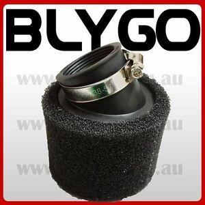 BLACK-41mm-42mm-Bent-Angled-Foam-Air-Filter-Pod-PIT-Quad-Dirt-Bike-ATV-Buggy