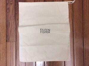 Eileen-Fisher-Dust-Bag-Handbag-Storage-Pouch-Drawstring-Bag-Beige-11-5-x13-034-p1