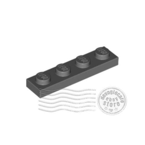 8x LEGO 3710 Piastra 1x4 Grigio scuro4211001
