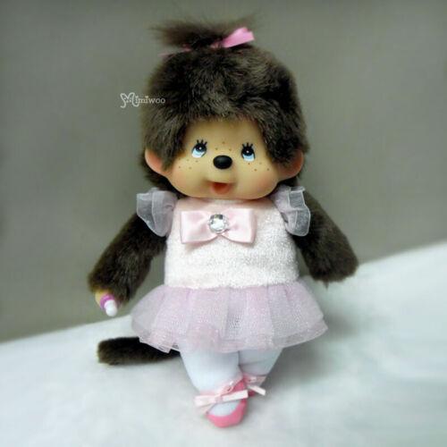 Monchhichi S Size Plush Ballerina Girl MCC 259030 ~ FREE SHIPPING ~