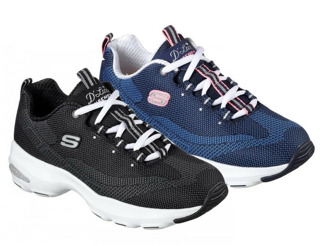 SKECHERS D LITE ULTRA women's 12283 women's ULTRA shoes sports gymnastics sneakers canvas run f618fc