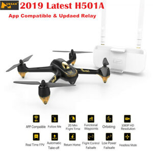 Hubsan X4 H501A PRO Brushless FPV RC Quadcopter APP 1080P...