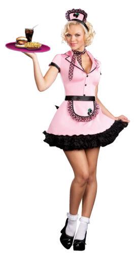 Sherri Cola Adult Women Costume 50s Car Hop Career Uniform Theme Party Halloween