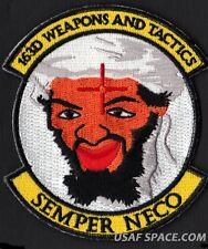 USAF 163D WEAPONS & TACTICS MQ-1 PREDATOR UAV ATTACK DRONE OSAMA HUNTER PATCH