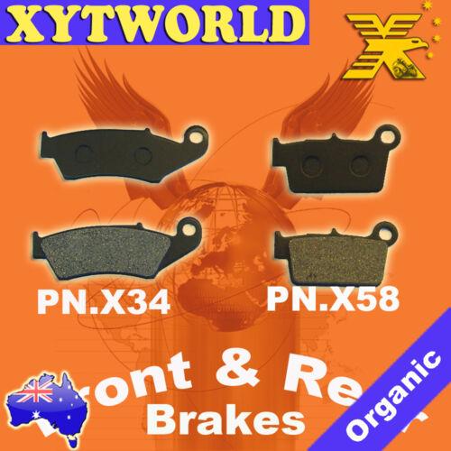 FRONT REAR Brake Pads KAWASAKI KLX 450 R 2008-2010 2011 2012 2013 2014 2015 2016