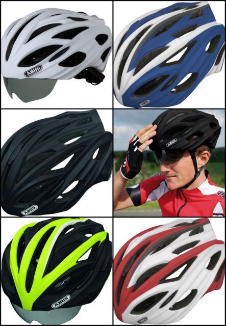 ABUS IN-VIZZ casco occhiali maschera integrata lente fumè bike helmet nero blu
