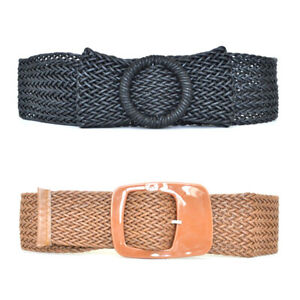 Woman-Bow-Wide-Braided-Belts-Ladies-Girls-Punk-New-Fashion-Adjustable-TPD