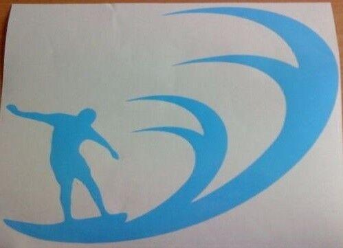 "small 7x5/"" surfing surfs up wave car van vinyl side sticker decal graphic vw fun"