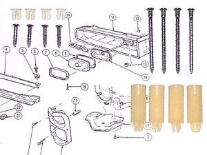 66 67 gto lemans tempest headlight head lamp light bezel. Black Bedroom Furniture Sets. Home Design Ideas