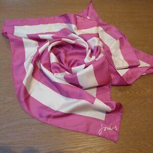 Silk Scarf Square Pink White Bnwot