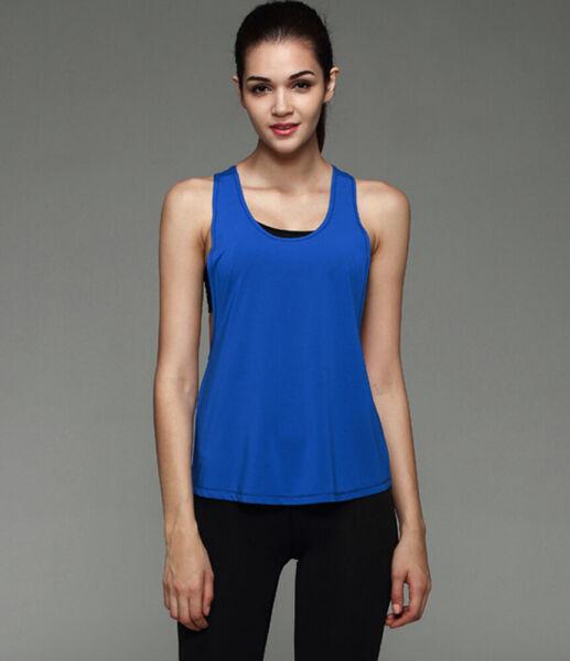 Frauen Weste Workout Tank Top T-Shirt Sport Gym Kleidung Fitness Yoga Tank Shirt