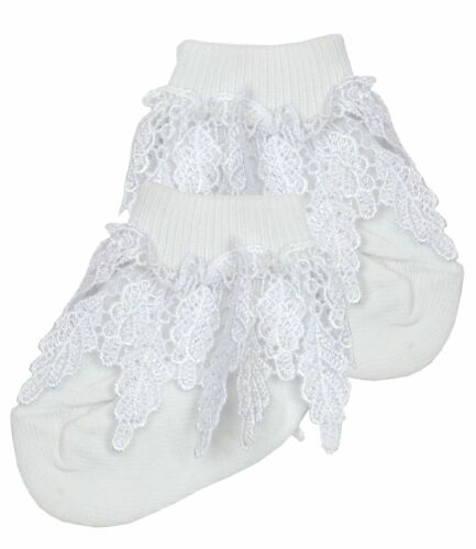 BabyPrem Premature Prem Tiny Baby Clothes Girls White Cream Princess Lacey Socks