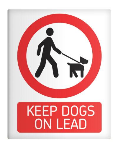 "KEEP DOGS ON LEAD 8x10/"" Metal Sign Park Premises Recreational Farm Nature #48"