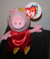 Ty Beanie Baby 2014 Golden Boots Peppa Pig Uk Exclusive In Hand