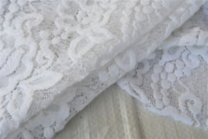 C121 LUXURY WHITE 3D FLORAL LACE COTTON VISCOUS 154cm EXTRA WIDE MADE IN ITALY