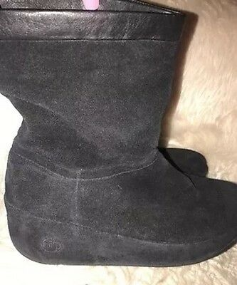 FIT FLOP FITFLOP CRUSH MID TOP BOOTS SZ  8 NEW AMAZING