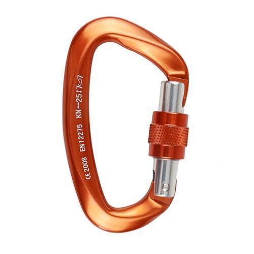 25KN Carabiner Outdoor Rock Climbing Twistlock Buckle Security Safe Master Lock