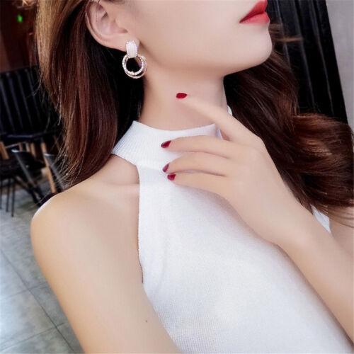 Diamond Females Studs Ear Jewelry Length And Width:3.1*2.1cm Alloy Dangle Drop