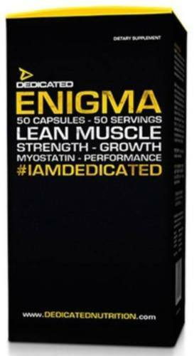 DEDICATED NUTRITION ENIGMA TEST 50 CAPS - MASS GAINER MUSCLE MASS GROWTH TEST ENIGMA BOOSTER 3540a7