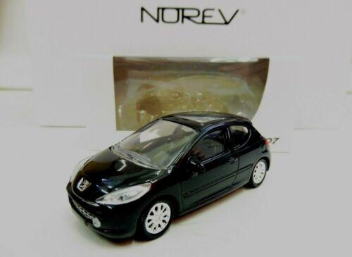 """PEUGEOT 207 3 Portes Noir 1//64 /""""3 Inche/"""" Norev Diecast Neuf Boite"""