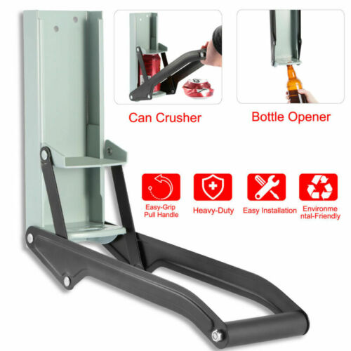 16OZ RECYCLING TOOL CAN CRUSHER HEAVY-DUTY METAL CAN SMASHER W// BOTTLE OPENER US