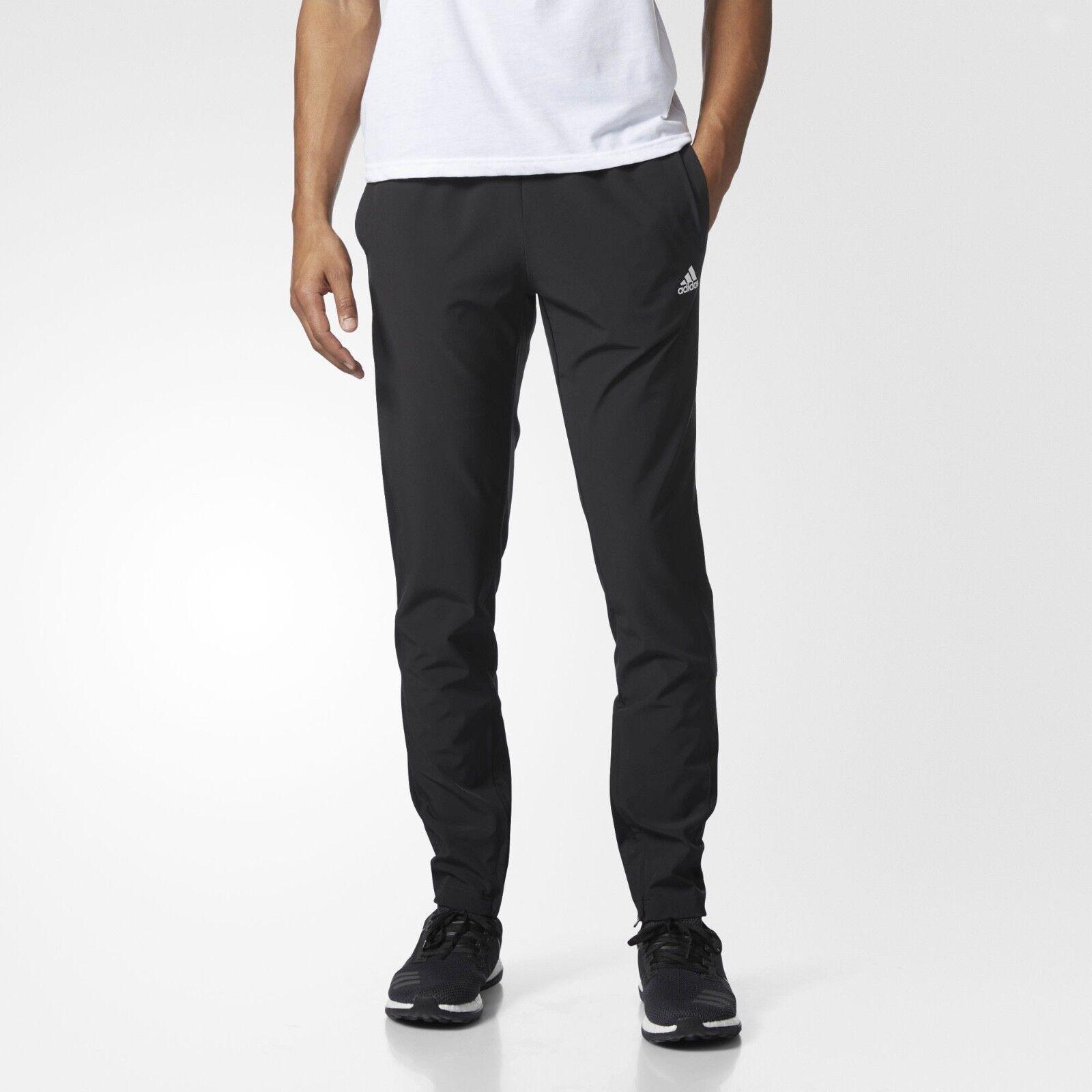 NOUVEAU Pantalon léger Adidas Essentials pour hommes Couleur: Noir Taille: Moyen