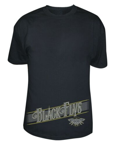 BRAND NEW Black Flys GOLD LABEL Tee Shirt BLACK SMALL-3XLARGE LIMITED RELEASE