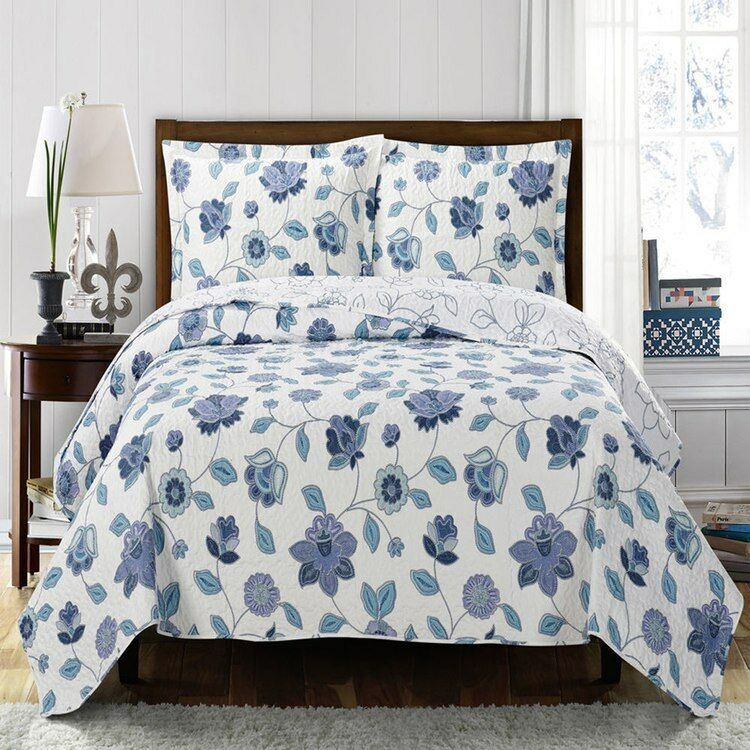 Welcoming Miranda Spring Floral Quilted Coverlet