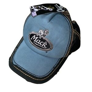 New-Mack-Trucker-Hat-Bulldog-Adjustable-Relaxed-Fit-Distressed-Vintage-look-Cap