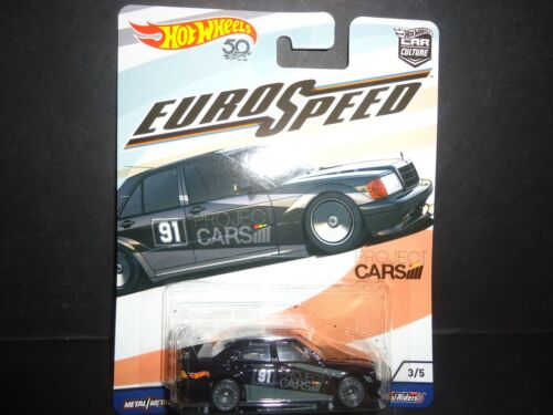 Hot Wheels Mercedes Benz 190e 2.5-16 Euro Velocidad Fpy86-956c 1//64
