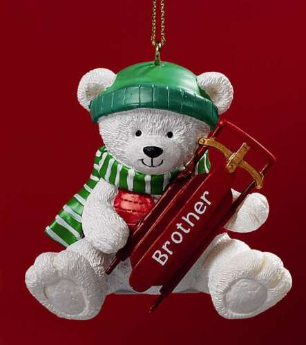 POLAR PALS BROTHER ORNAMENT by RUSS BERRIE