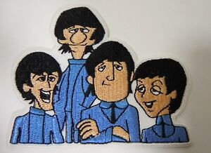 The-BEATLES-Cartoon-TV-Series-Embroidered-Iron-On-Patch-3-1-4-034