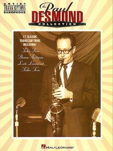 The Paul Desmond Collection Alto Saxophone Artist Transcriptions NEW 000672328