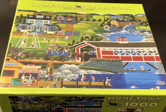 Hometown Collection LAZY SUMMER DAYS 1000 Piece Jigsaw Puzzle Heronim Wysocki